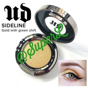 2/$25 Urban Decay Sideline Gold Green Eyeshadow